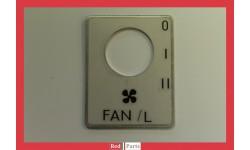 Plaque interrupteur ventilation gauche (0201646)